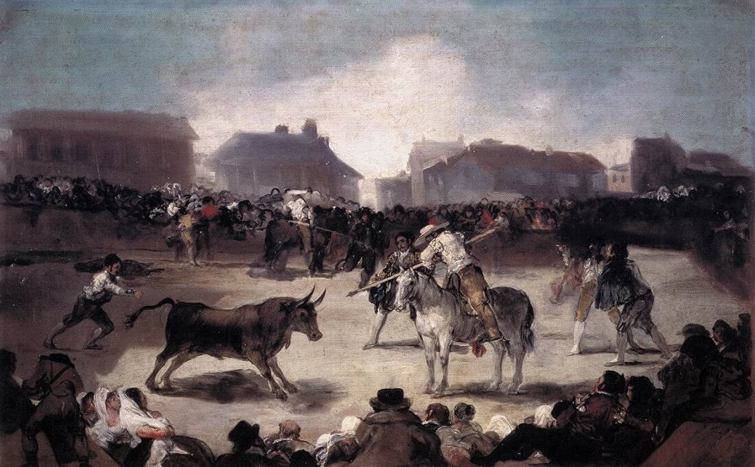 A Village Bullfight, 1812-14 by Francisco Goya