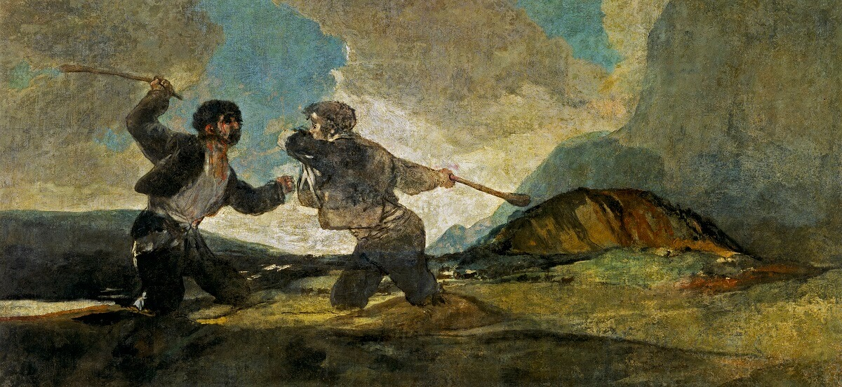 Fight With Cudgels, 1820 by Francisco Goya
