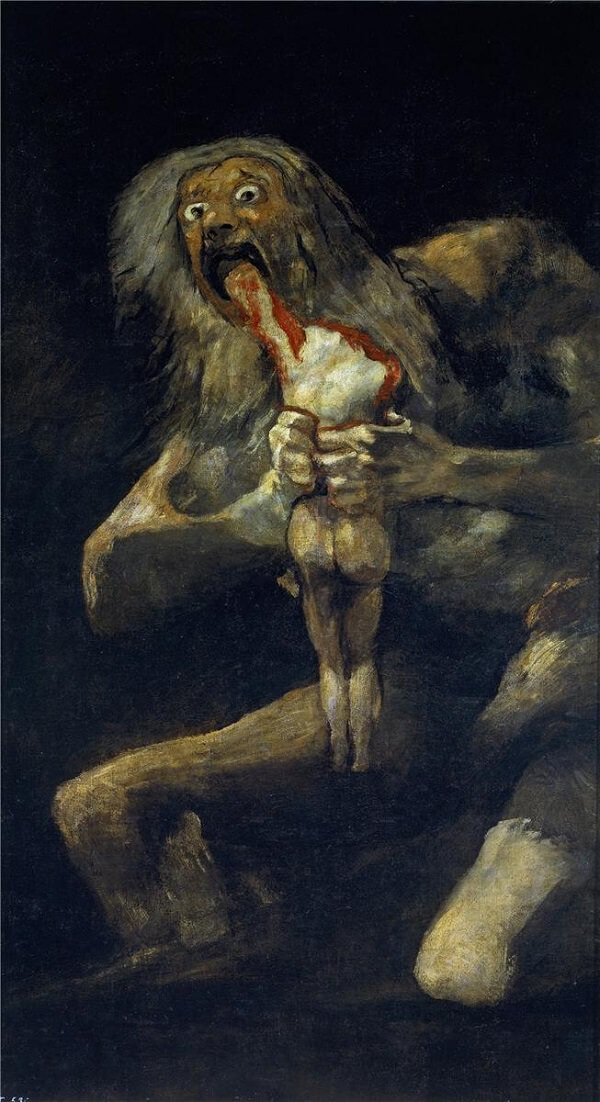 Saturn Devouring His Son, 1820-23 by Francisco Goya