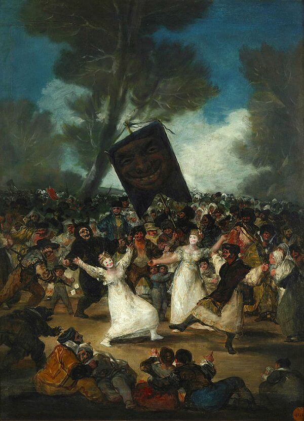 The Burial of the Sardine, 1812-19 by Francisco Goya