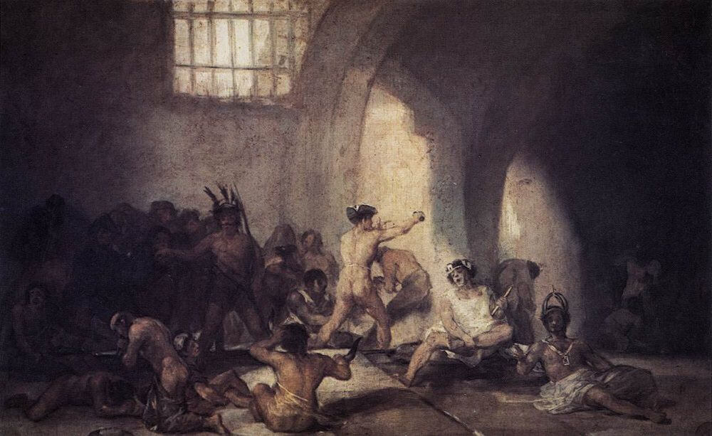 The Madhouse, 1812 by Francisco Goya