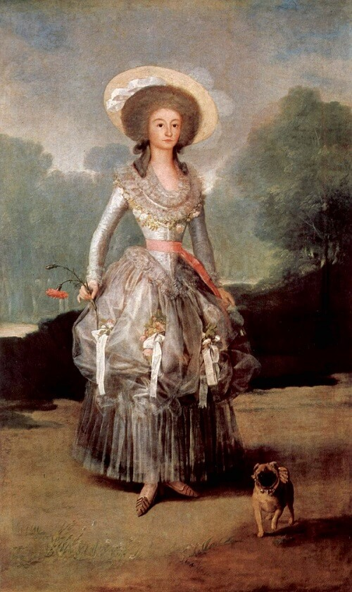 The Marquesa de Pontejos, 1786 by Francisco Goya