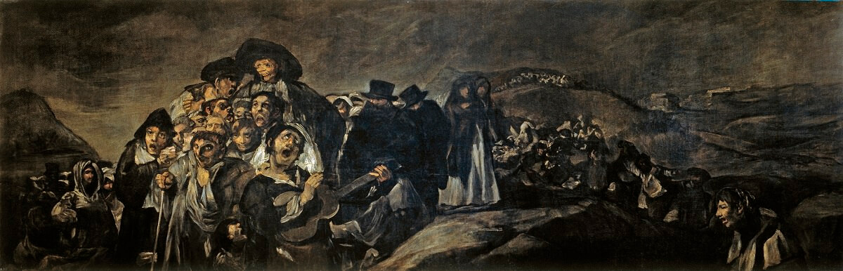The Pilgrimage to San Isidro, 1820-23 by Francisco Goya