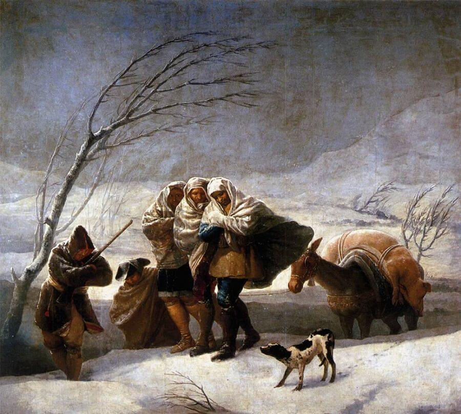 The Snowstorm, 1786 by Francisco Goya