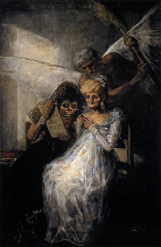 Time and the Old Women, 1810 by Francisco Goya