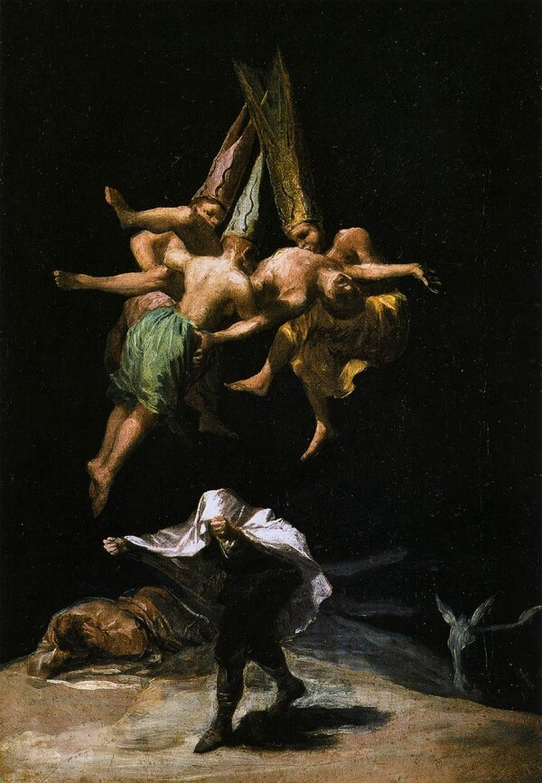 Witches' Flight, 1797 by Francisco Goya